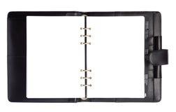 Cahier noir de papier de type Image libre de droits