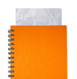 Cahier orange Image stock
