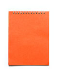 Cahier orange Images libres de droits