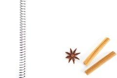 Cahier pour des recettes photographie stock