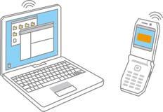 Cahier/téléphone ellular Images stock