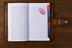 Cahier tabulé Image stock