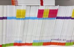 Cahiers colorés Photographie stock libre de droits