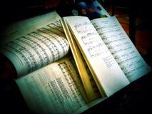 Cahiers de musique Image libre de droits