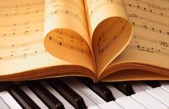 Cahiers de musique antiques Photos libres de droits