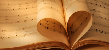 Cahiers de musique antiques Photographie stock libre de droits
