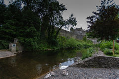 Cahir Castle in Ireland. View to the old Cahir Castle in Ireland Stock Photos
