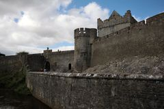 Cahir Castle and its big wall in Ireland Stock Photos