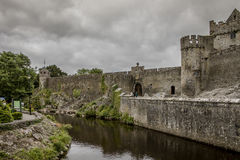 Cahir Castle - 1367. Once the stronghold of the powerful Butler family, the castle retains its impressive keep, tower and much of its original defensive Royalty Free Stock Image