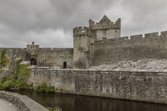 Cahir Castle - 1386. Once the stronghold of the powerful Butler family, the castle retains its impressive keep, tower and much of its original defensive Royalty Free Stock Photos