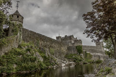 Cahir Castle - 1418. Once the stronghold of the powerful Butler family, the castle retains its impressive keep, tower and much of its original defensive Stock Image