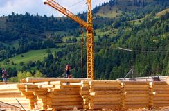 Cahlet под конструкцией на горе Стоковые Фото