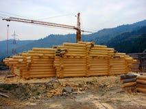 Cahlet под конструкцией на горе Стоковое Фото