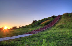 Cahokia-Hügel lizenzfreie stockbilder