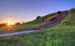 Cahokia kullar arkivfoto