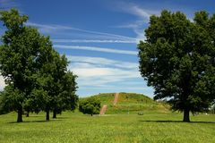 Cahokia mound Royalty Free Stock Photography