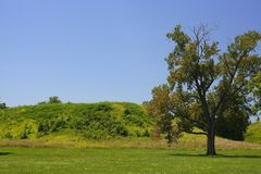 Cahokia mound Royalty Free Stock Photo