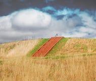 Cahokia mounds. Indian Mound in Cahokia IL Royalty Free Stock Images