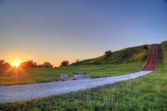 Cahokia Mounds. In Collinsville, Illinois Stock Photos