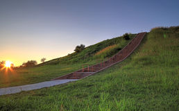 Cahokia Mounds. In Collinsville, Illinois Royalty Free Stock Photography