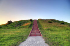 Cahokia Mounds. In Collinsville, Illinois Royalty Free Stock Photo