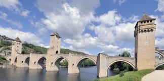 cahors dordogne France pont valentre Zdjęcia Royalty Free