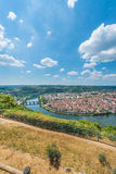 Cahors from Mont Saint Cyr in Lot, France. Stock Photography
