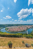 Cahors from Mont Saint Cyr in Lot, France. Royalty Free Stock Images