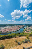 Cahors from Mont Saint Cyr in Lot, France. Royalty Free Stock Photography
