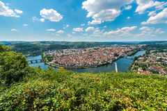 Cahors from Mont Saint Cyr in Lot, France. Stock Images