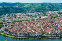 Cahors from Mont Saint Cyr in Lot, France. Stock Photos