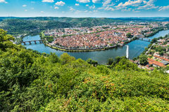 Cahors from Mont Saint Cyr in Lot, France. Royalty Free Stock Photo