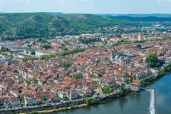 Cahors from Mont Saint Cyr in Lot, France. Stock Image