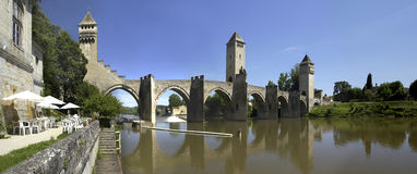 Cahors - porción - Francia Fotografía de archivo libre de regalías