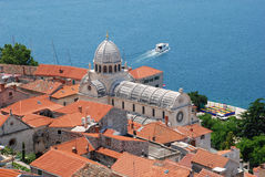 Cahtedral of st. James, Sibenik, Croatia. Royalty Free Stock Photography