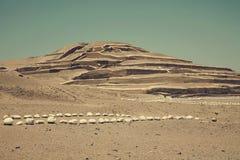 Cahuachi-Pyramiden Lizenzfreies Stockfoto