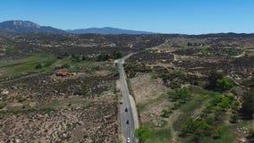Cahuilla Tewanet景色点-从上面看法,加州,美国 股票录像