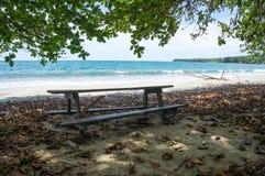 Cahuita海滩,哥斯达黎加 免版税库存照片