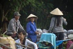 Cai звенел плавая рынок Стоковое фото RF