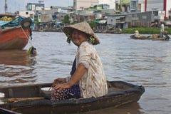 Cai звенел плавая рынок Стоковые Фото