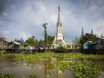 Cai Be, vue du Vietnam de Cai Be Church de M photos stock