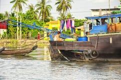 Cai Był południowego wietnamu domowym łodzią obrazy royalty free