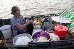 Cai Răng rzeki rynek Fotografia Royalty Free