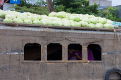 Cai Rang浮动市场,越南 免版税库存照片