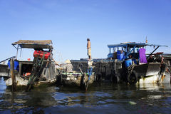 Cai Rang Floating Market Royaltyfri Foto
