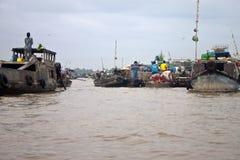 Cai Rang Floating Market Royalty Free Stock Photography