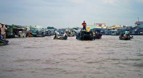 Cai Rang Floating Market Stock Image