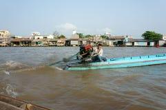 Cai Rang floating market, Mekong Delta travel Stock Photo