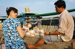 Cai Rang floating market, Mekong Delta travel Stock Photos