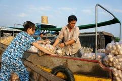 Cai Rang floating market, Mekong Delta travel Royalty Free Stock Photo